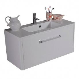 Тумба для ванной комнаты Fancy Marble Fiji 900 с раковиной Annabelle 90 Белая