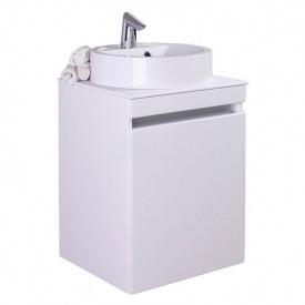 Тумба для ванной комнаты Fancy Marble Sheldon 500 со столешницей и раковиной Renata Белая