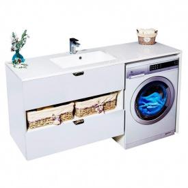 Тумба для ванной комнаты Fancy Marble Vivara 1500 L/R с умывальником Lauretta 1500