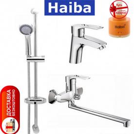 Комплект в ванную комнату HAIBA Hansberg Set 03 умывальник ванна длинная душевая стойка