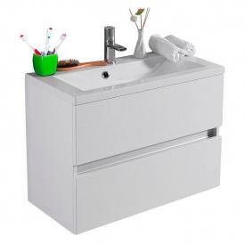 Тумба для ванной комнаты Fancy Marble Rodos с раковиной Elina 700 Белая