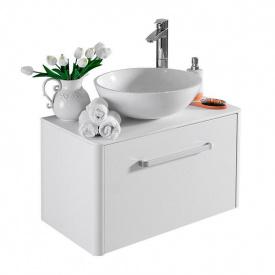 Тумба для ванной комнаты Fancy Marble Fiji 70 со столешницей и умывальником Mona 420 Белая