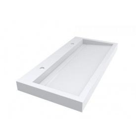 Умывальник из литого мрамора накладной Miraggio Agness 1000 Белый глянцевый 0000149