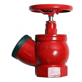 Кран пожарный Ду-65 чугунный угловой 125°, вн/нар (ПК-65)