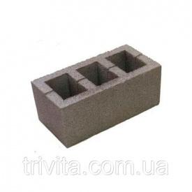 Стеновой шлакоблок 190х190х390 Узин (пустотелый)