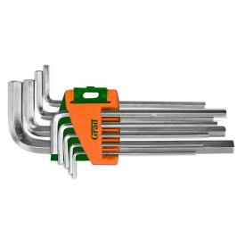 Ключи шестигранные 9шт 1,5-10мм CrV короткие Grad (4022075)