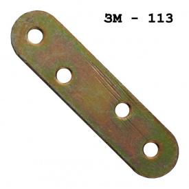 Пластина крепежная №4 (80х20х1.5.мм) (кратно 20 шт)