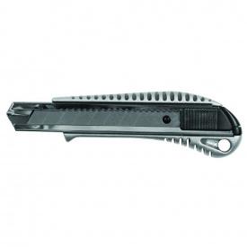 Нож строительный (металлический корпус) лезвие 18 мм автоматический замок Sigma (8211021)