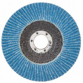 КРУГ ЛЕПЕСТКОВЫЙ ТОРЦЕВОЙ Т29 (КОНИЧЕСКИЙ) ZA диаметр125ММ P80 SIGMA (9173541)