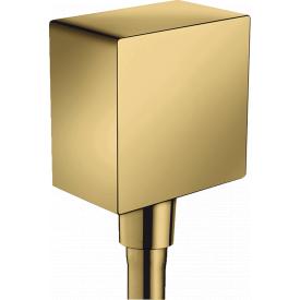 FixFit Шланговое подсоединение Square с клапаном полированное золото HANSGROHE 26455990