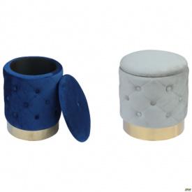 Пуф Janett Blue / Golden Chrom