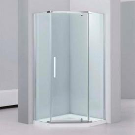 Душевая кабина Dusel А-1104, 900х900х1900, пятиугольная, стекло прозрачное