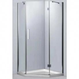 Душевая кабина Dusel А-715, 1000х1000х1900, пятиугольная, стекло прозрачное