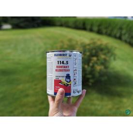 Контактный клей KLEIBERIT С 114/5 на каучуковой основе (банка 0,7 кг)/выдержка 10–15 мин.