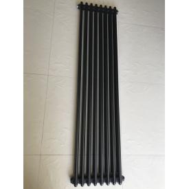 Вертикальний дизайнерський радіатор опалення ТМ ARTTIDESIGN Bari 8/1500 чорний матовий