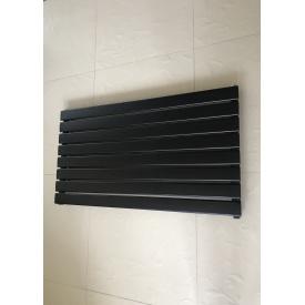 Горизонтальный дизайнерский радиатор отопления Livorno G 8/1000 чёрный матовый