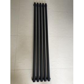 Вертикальный дизайнерский радиатор отопления ТМ ARTTIDESIGN Matera 5/1800 чёрный матовый