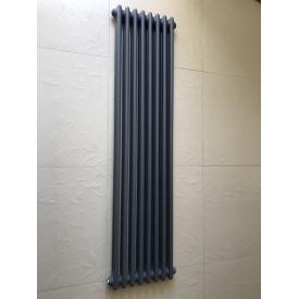 Вертикальный дизайнерский радиатор отопления ТМ ARTTIDESIGN Bari II 8/1800 серый матовый