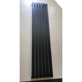 Вертикальный дизайнерский радиатор отопления TM ARTTIDESIGN Terni 6/1800 чёрный матовый