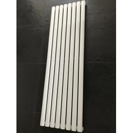 Дизайнерский вертикальный радиатор отопления TM ARTTIDESIGN Rimini 8/1500 Цвет белый матовый