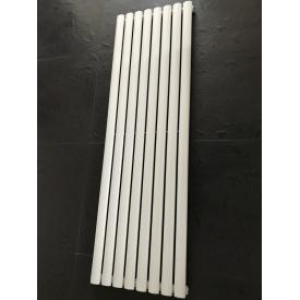 Дизайнерский вертикальный радиатор отопления ТМ ARTTIDESIGN Rimini 8/1800 Цвет белый матовый