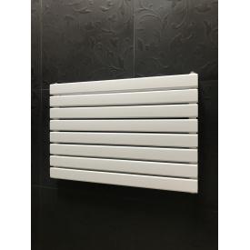 Горизонтальный дизайнерский радиатор отопления Livorno || G 8/600 белый матовый