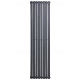 Вертикальный дизайнерский радиатор отопления ТМ ARTTIDESIGN Terni 8/1800 серый матовый