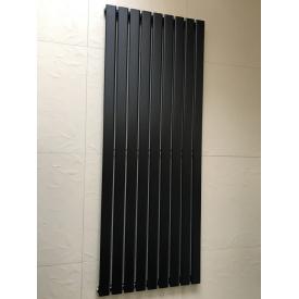 Вертикальный дизайнерский радиатор отопления ТМ ARTTIDESIGN Livorno 9/1800 Цвет чёрный матовый