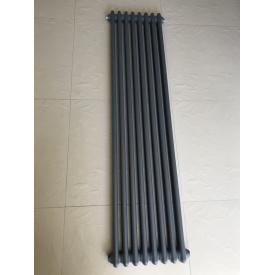 Вертикальный дизайнерский радиатор отопления ТМ ARTTIDESIGN Bari 8/1500 серый матовый