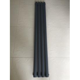 Вертикальный дизайнерский радиатор отопления ТМ ARTTIDESIGN Rimini 4/1800 серый матовый