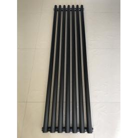Вертикальный дизайнерский радиатор отопления TM ARTTIDESIGN Matera 7/1500 чёрный матовый