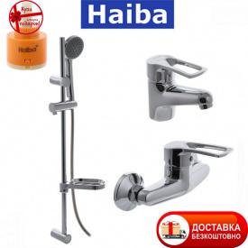 Комплект в ванную комнату HAIBA Hansberg Set 02 умывальник душкабина душевая стойка
