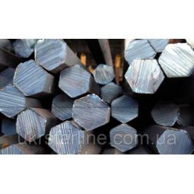 Шестигранник стальной калиброванный ст 45 от 12 до 55 мм