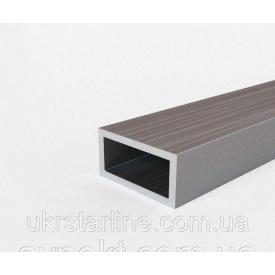 Труба алюминиевая профильная 50х15х1,9 мм АД 31 Т 5 прямоугольная анодированная