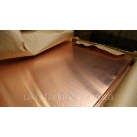 Лист медный 0,5х600х1500 мм от 0,4 мм до 10 мм