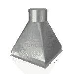 Переходник прямоугольный 0.5 мм 50х100 мм