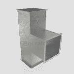 Тройник 90° прямоугольный 0.5 мм 250х150 мм