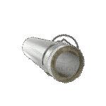 Труба 150/210 мм нержавіюча сталь 0.8 мм цинк 0.4 мм