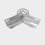 Поворот желоба 120 мм цинковый 0.5 мм