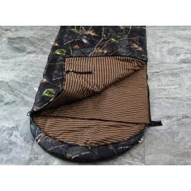 Туристический спальный мешок+компрессионник для похода бязь 220х140 см коричневый