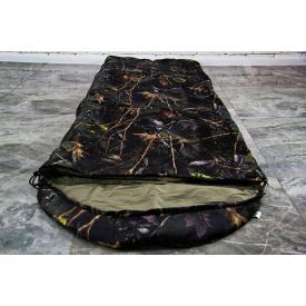 Тактический спальник Arvisa термотрикотаж камуфляж камыш 220х143 см с капюшоном + компрессионный мешок