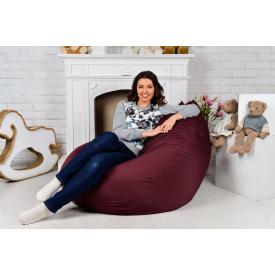 Бескаркасное кресло мешок груша Президент XXL бордо