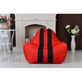 Бескаркасное кресло мешок груша пуфик XL oxford Феррари красный