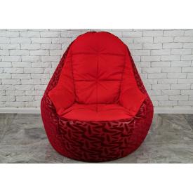 Бескаркасное кресло мешок груша диван BOSS XL красный
