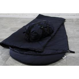 Тактичний спальний мішок меморі плащовка із захисною прогумованою термо-плівкою 225х74 см гіркий шоколад