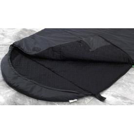 Тактический спальный мешок Arvisa термо-ткань 220х84 см черный