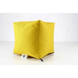 Жовтий м'який пуф Кубик 25х25 см