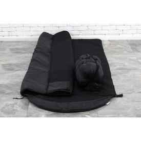Тактический спальный мешок Arvisa термо-ткань 220х90 см черный