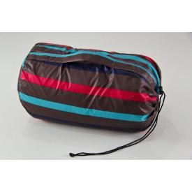 Туристический спальный мешок нейлон + х/б нить 220х145 см полоски цветные