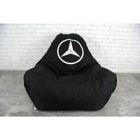 Безкаркасне крісло мішок груша XL oxford Mercedes чорний
